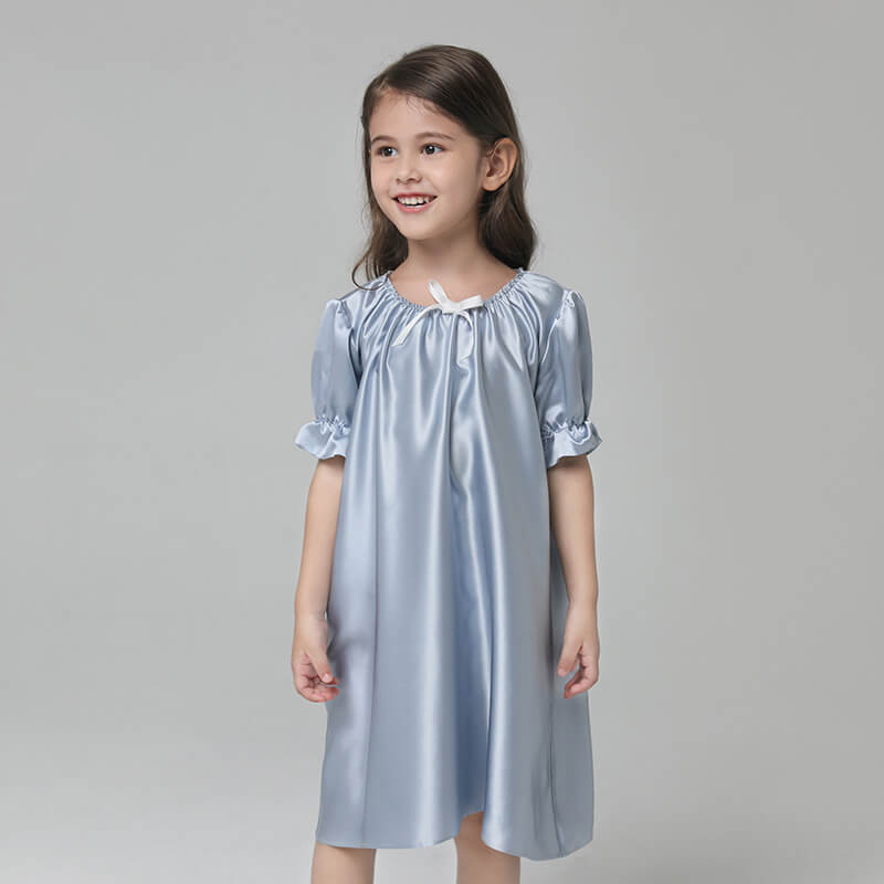 19 Momme Girls Princess Silk Nightgown