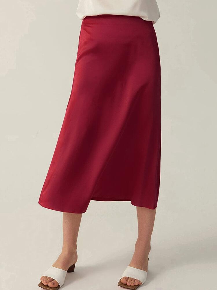 30 Momme A Line Silk Skirt Dress Sc015 139 99