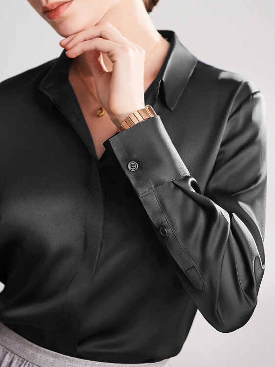 22 Momme Classic Womens Silk Blouse