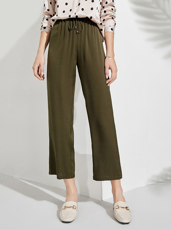 19 Momme Stretchable Summer Cool Loose Pants