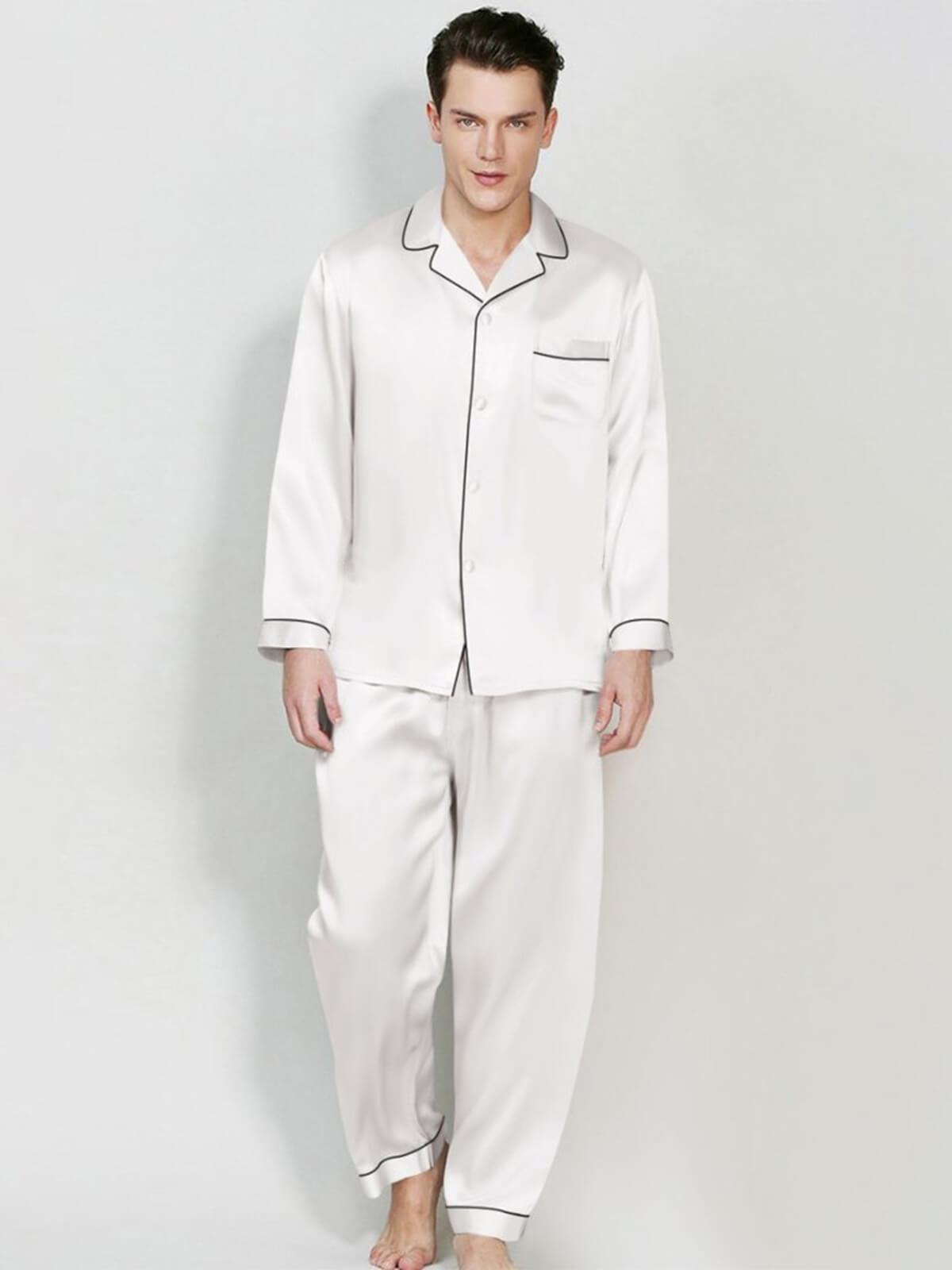 22 Momme Classic Silk Pajama Set For Men