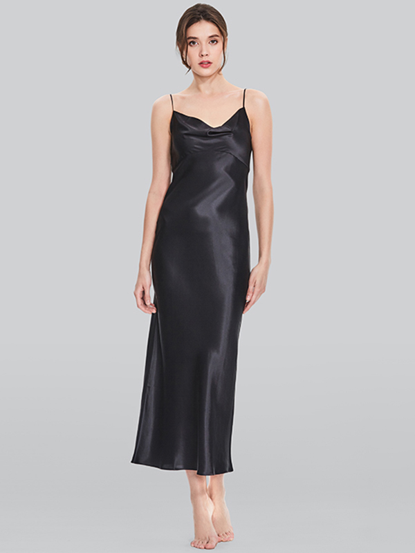 19 Momme Floral Printed Loose Silk Nightgown