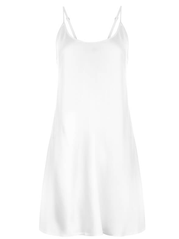 22 Momme Classic Round Neck Silk Nightgown