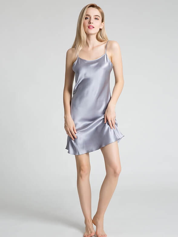 22 Momme Elegant Silk Slip Nightgown