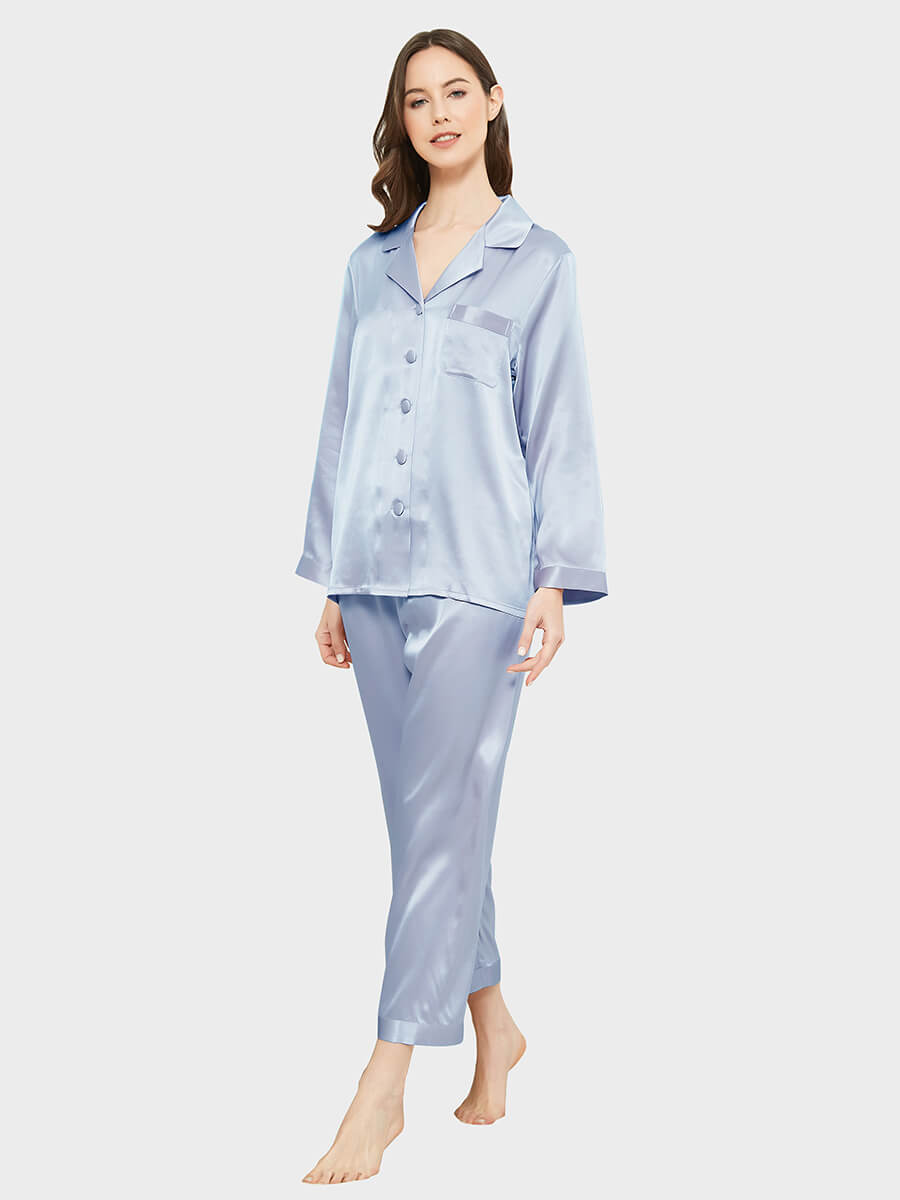 19 Momme Classic Silk Nightgown with Lace Trim