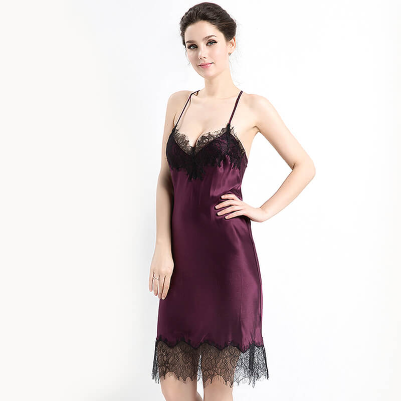 19 Momme Double-layered Seamless Classic Silk Nightgown