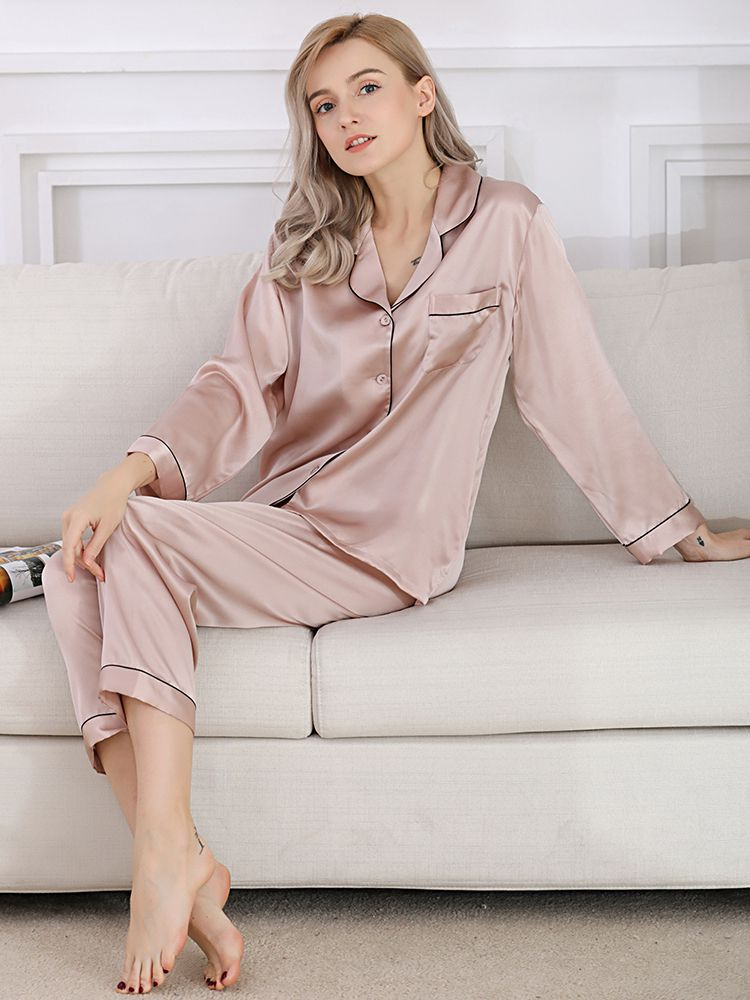 19 Momme Classic Silk Pajama Set For Women