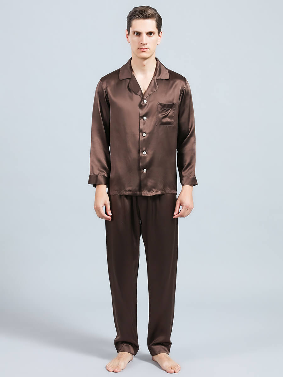 22 Momme Men's Classic Silk Pajama Sets
