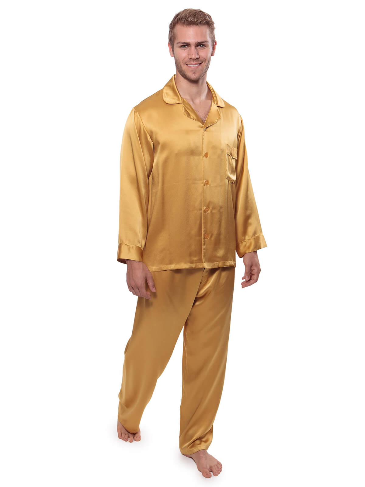 22 Momme Men\'s Classic Silk Pajama Sets