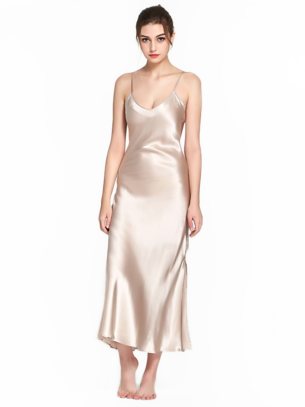 22 Momme Luxurious Full Length Silk Slip Nightgown