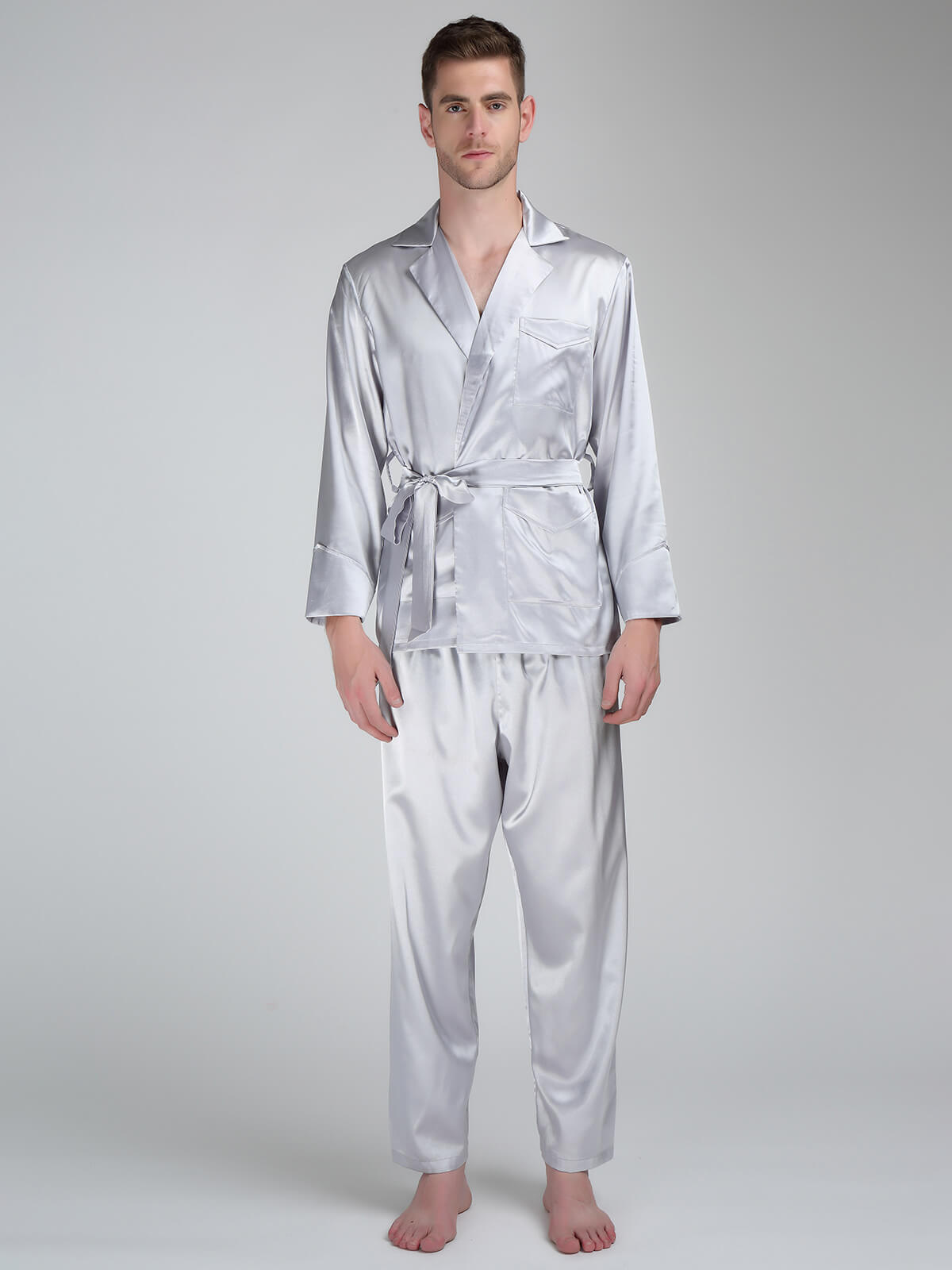 22 Momme Stylish Silk Pajama Set For Men