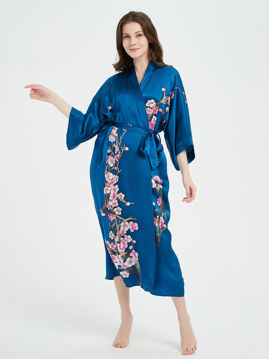 100 Pure Mulberry Silk Robes Silk Bathrobes Silk Kimono Robes For Women