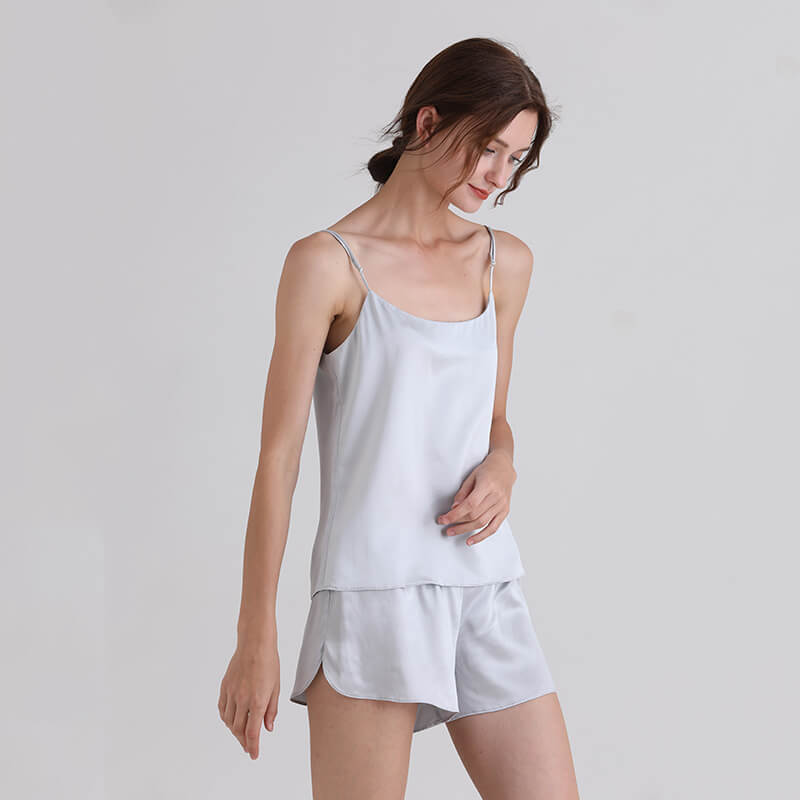 22 Momme Short Sleeved Chic Silk Pajama Set For Women