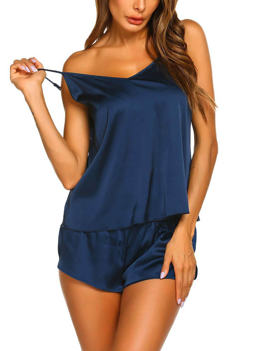 Womens Comfortable Silk Camisole Sets
