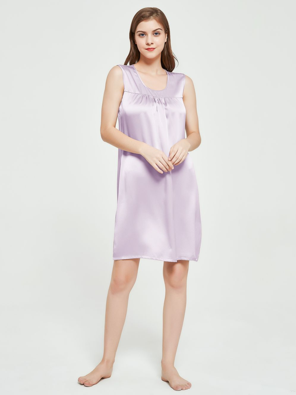 19 Momme Relaxed Sleeveless Basic Silk Nightdress