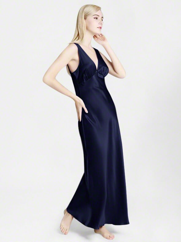 19 Momme Mulberry Silk Floor Length Luxurious Silk Nightgown