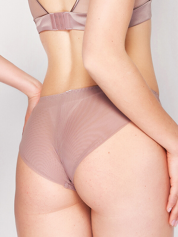 Hipster Floral Lace Trimmed Silk Thong Fst13 32 99