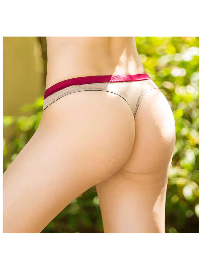 Appliqued Breathable Silk Mesh Panty