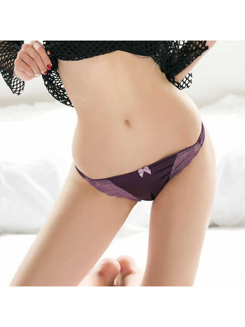 Comfortable Silk Panty With Eyelash Lace