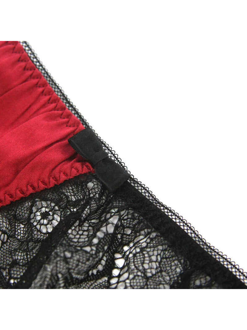 Comfortable Silk Panty with Soft Lace Edge